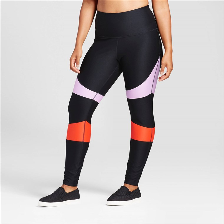 JoyLab Women's Plus High Waist Color Block Performance Leggings