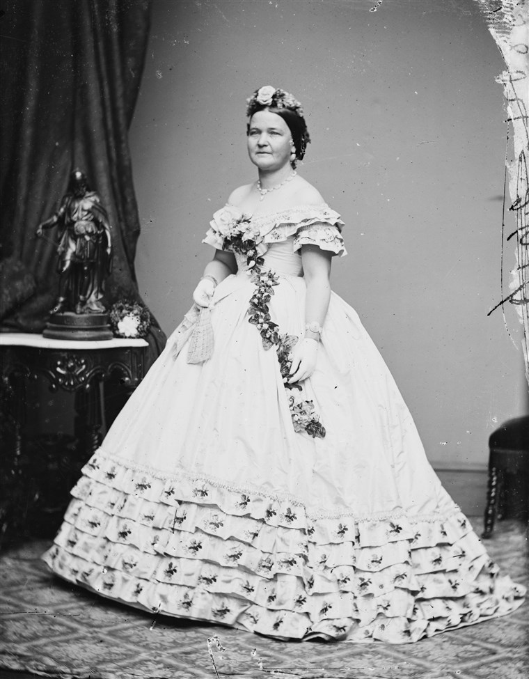 Mary Todd Lincoln inaugural ball gown