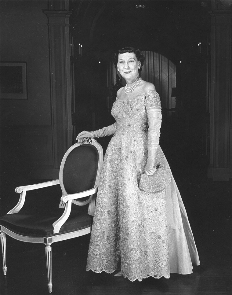 A First Lady Eisenhower In Her Ball Gown