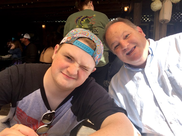 Ban ben this undated family photo, Davis Cripe, 16, is shown with his dad Sean. According to a coroner, Cripe died April 26, 2017 from