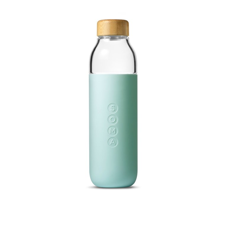 सोम glass water bottle