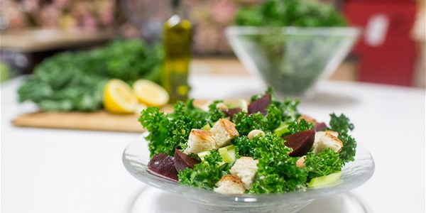 A 4-ingredient kale salad we're obsessed with