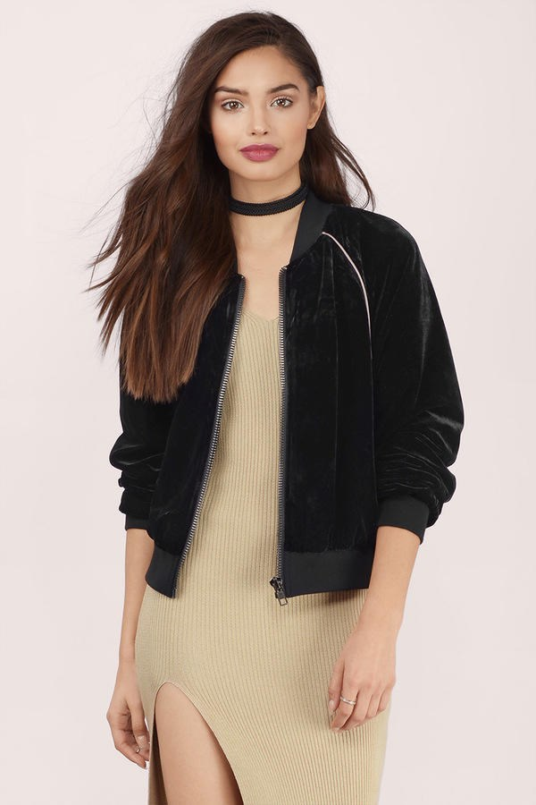 टोबी Velvet Crush Bomber Jacket
