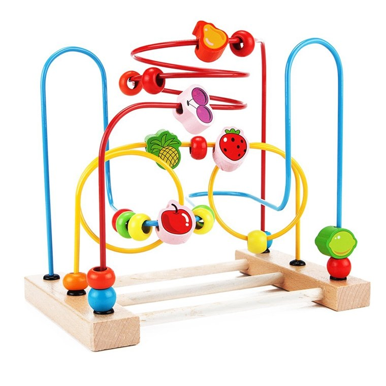 VidaToy Classic Circle Bead Maze Activity Center for Toddlers