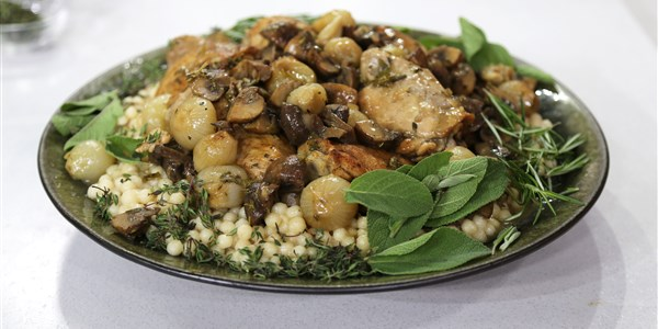 začinjen Chicken with Lebanese Couscous