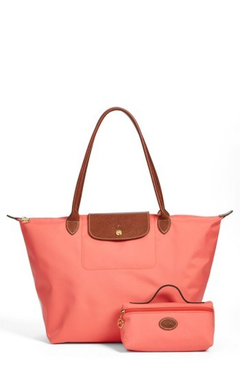 Longchamp tote and pouch
