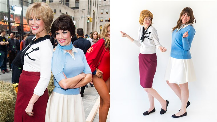 Danas Halloween costumes Laverne and Shirley