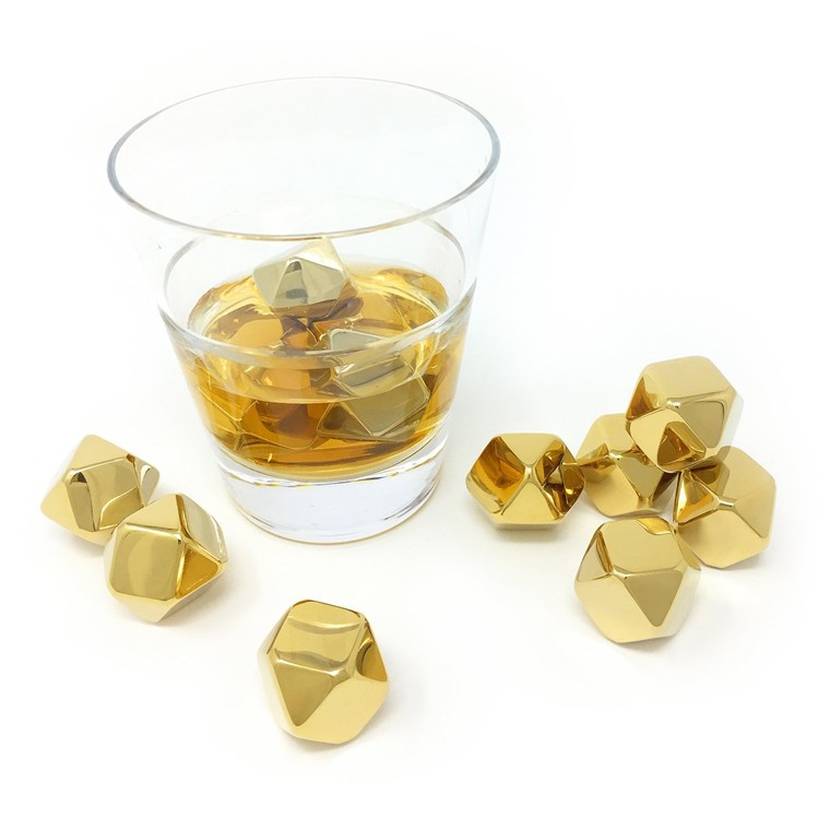 गंधा's gold whiskey stones