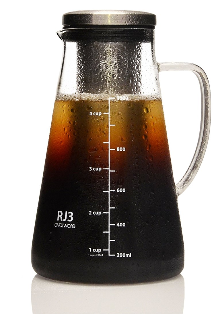 Ovalware cold brew iced coffee maker and tea diffuser