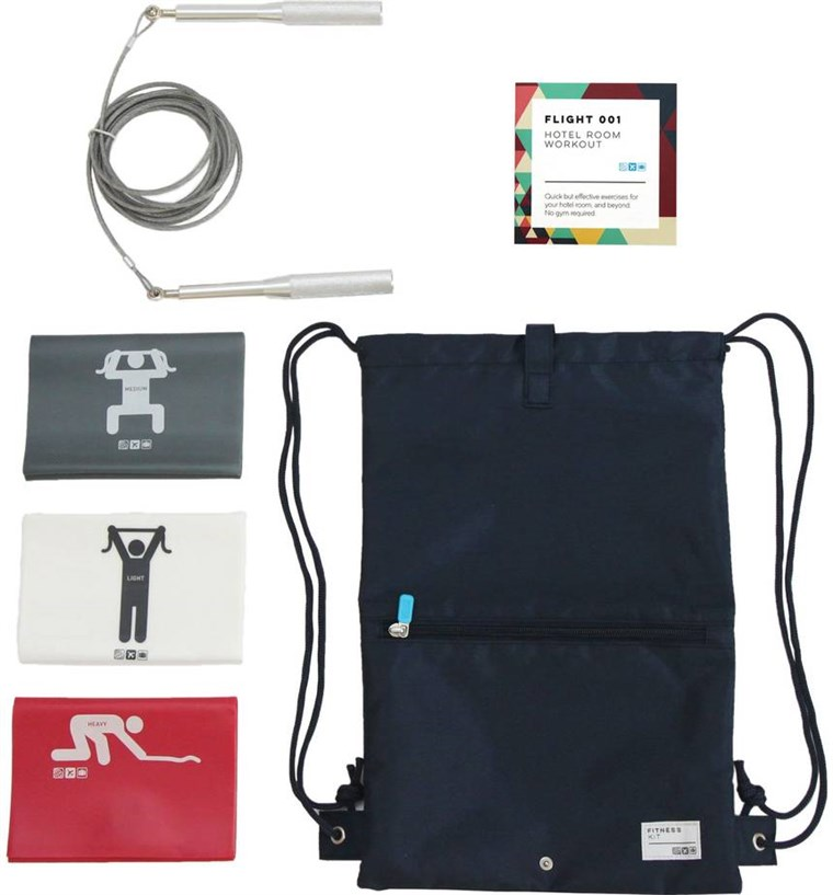 उड़ान 001 fitness kit for travelers