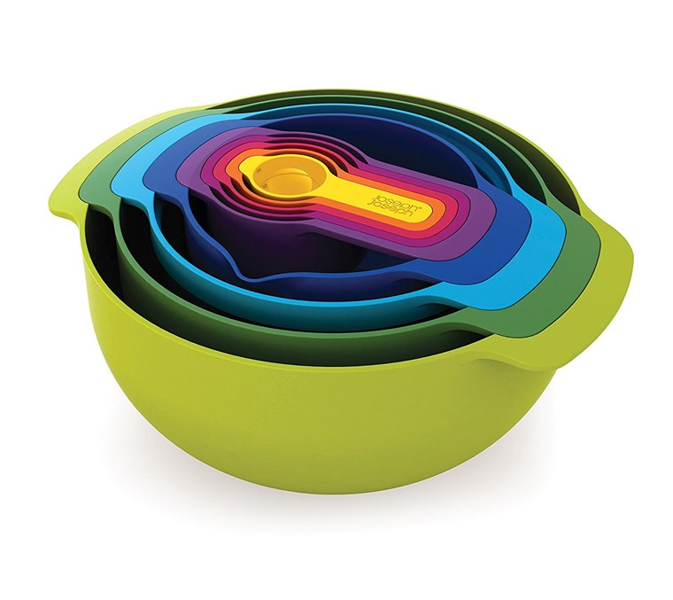 यूसुफ Joseph set of 9 nesting bowls and measuring cups