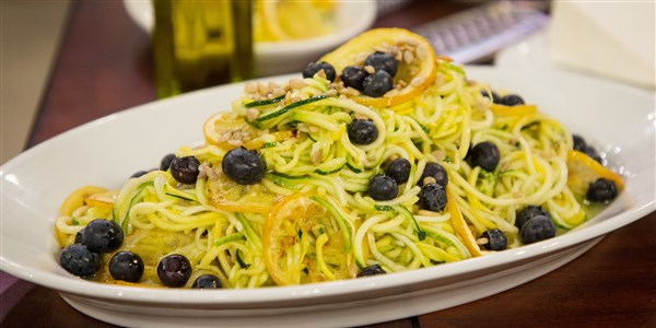 Nyers Zucchini Salad with Roasted Lemon