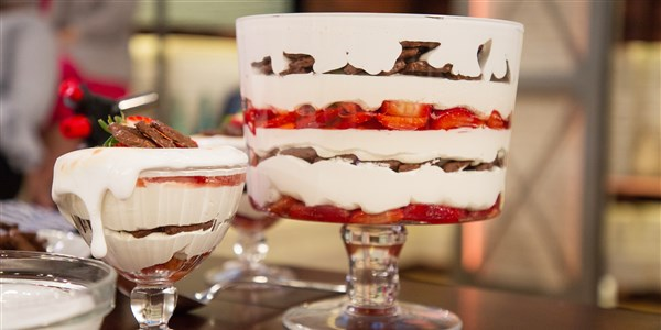 S'mores Strawberry Shortcake Trifle