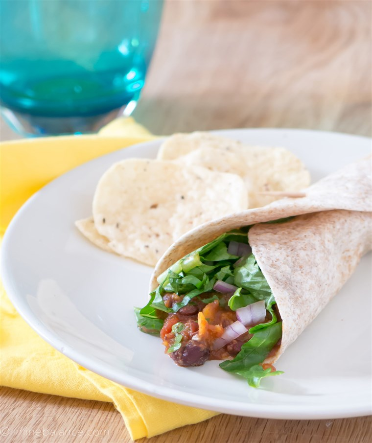מתוק potato and black bean slow-cooker tacos