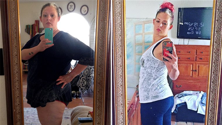Ködös Mitchell cut alcohol out of her diet and lost 139 pounds.