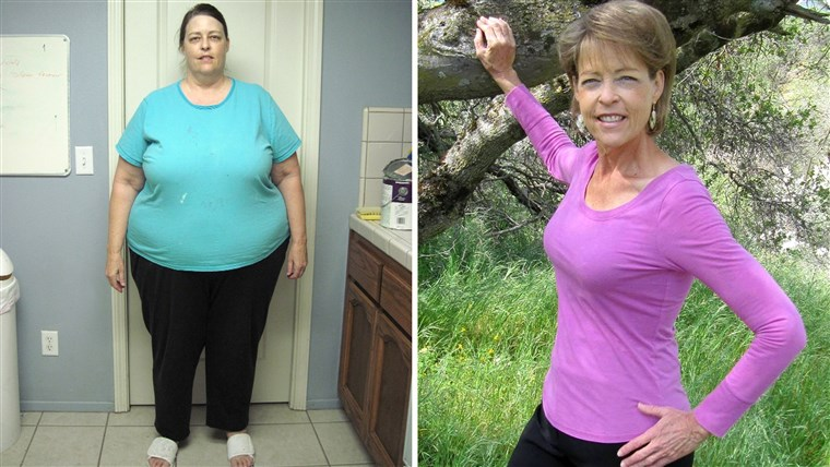 Diane Naylor before and after weightloss