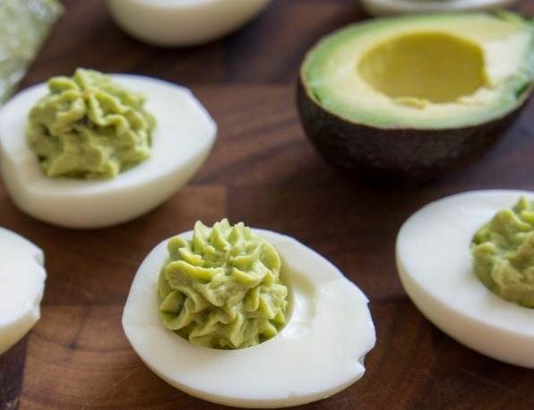 guacamole deviled eggs recipe from I Wash You Dry
