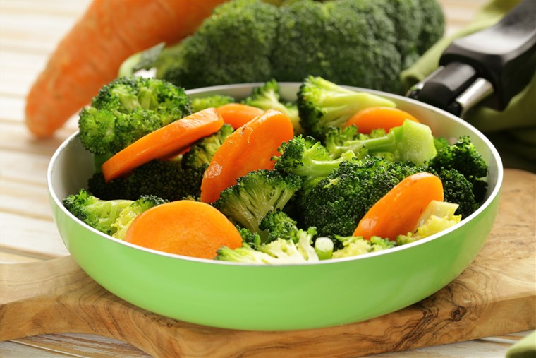 मिश्रित vegetables with carrots and broccoli tasty garnish; Shutterstock ID 180991424; PO: today.com