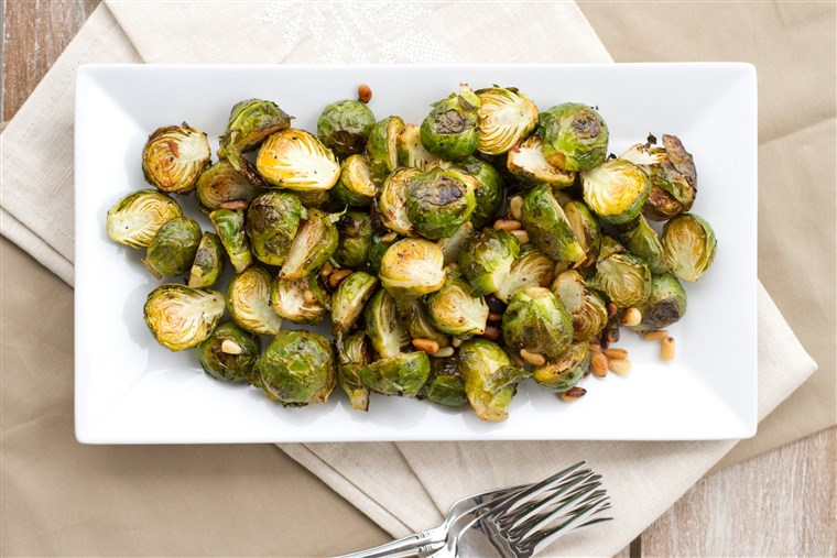 לימון Roasted Brussels Sprouts