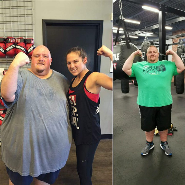 पर almost 600 pounds, Mike Powers' health was failing. In only 15 months he has shed 250 pounds.