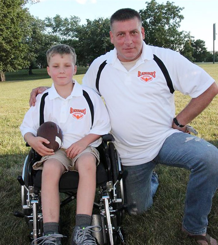 Tata helps son, Ayden Zeigler-Kohler, who has terminal brain tumors, to fulfill his bucket list.