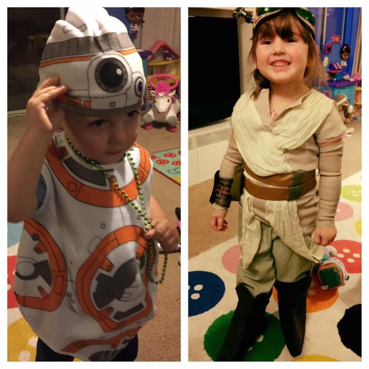 रे and BB8 Halloween Costumes