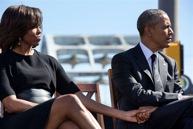 Obamas attend the 50th anniversary of the civil rights march in Selma, Alabama.