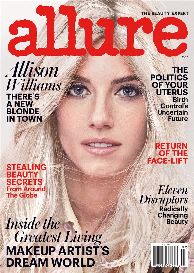 Allison Williams goes blonde for Allure!