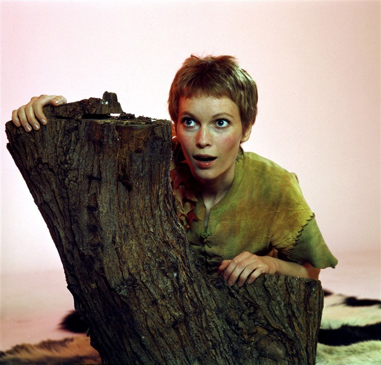 Mia Farrow as Peter Pan in 1976.