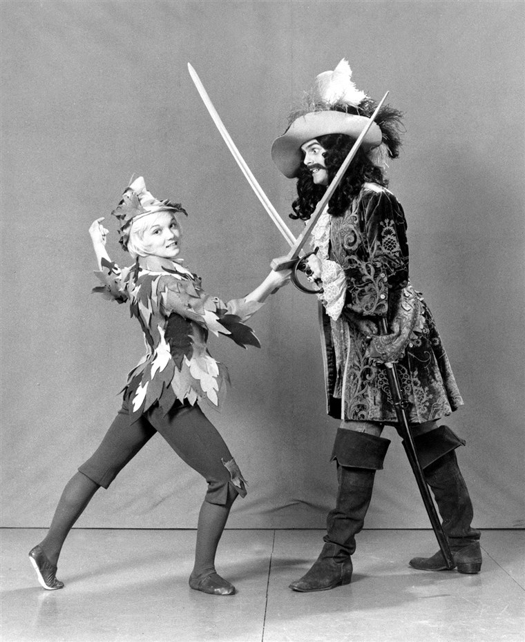 Keti Rigby went from the Olympics to playing Peter Pan and fighting with Captain Hook in 1974.