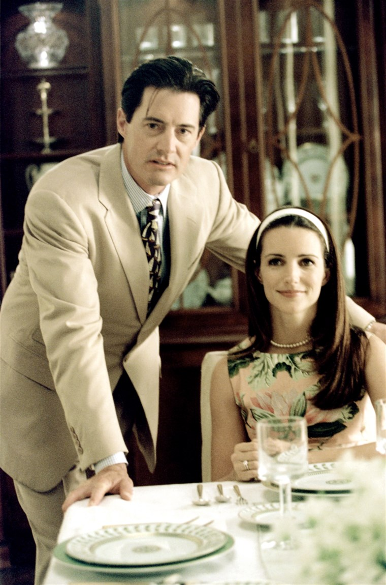 लिंग AND THE CITY, (from left): Kyle MacLachlan, Kristin Davis, 'All That Glitters', (Season 4, ep. 4