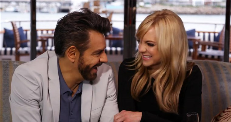 túlzott interview on TODAY, from left: Eugenio Derbez Anna Faris, 2018.