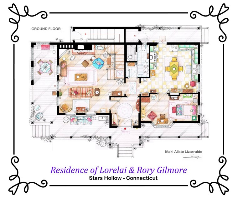 Gilmore Girls house floor plan