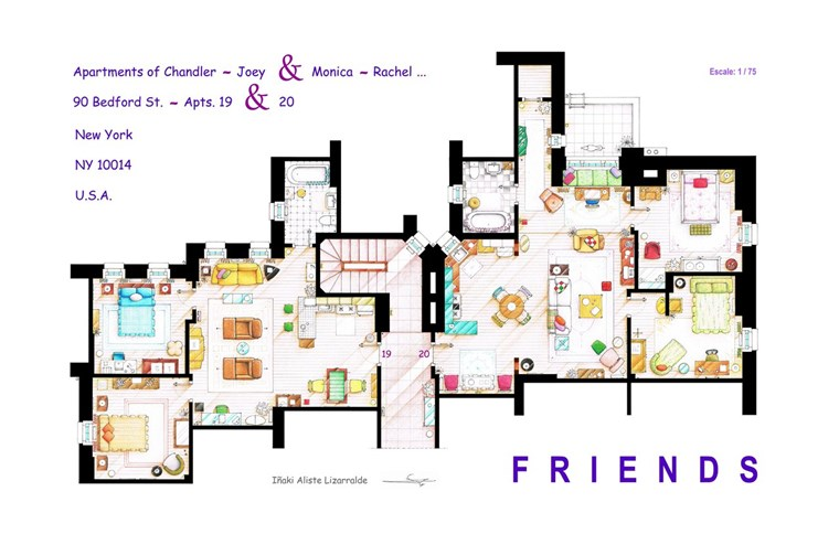 Prijatelji apartment floor plan
