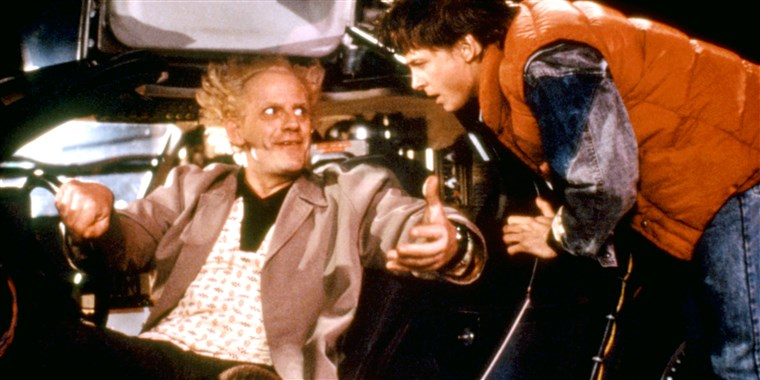 LEĐA TO THE FUTURE, Christopher Lloyd, Michael J. Fox, 1985
