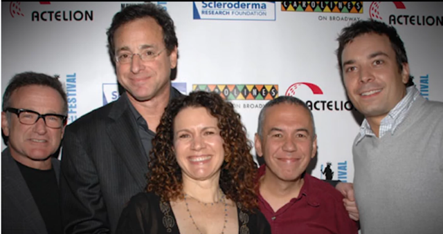 Vörösbegy Williams, Bob, Susie Essman, Gilbert Gottfried and Jimmy Fallon at the Scleroderma Research Foundation benefit in 2007.