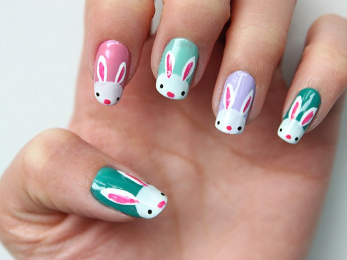 Uskrs nail art designs to DIY: Easter bunnies