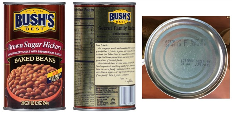 [Srpanj 22, 2017]: BUSH'S(R) BEST BROWN SUGAR HICKORY BAKED BEANS Voluntary Recall - 28 ounce withUPC of 0 39400 01977 0 and Lot Codes 6097S GF and 6097P GF with Best By date of Jun 20