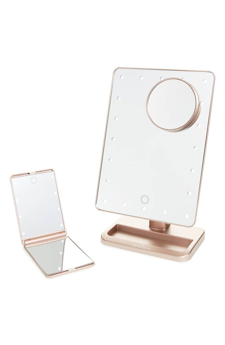 Dojmovi Vanity Co. Touch XL Dimmable LED Makeup Mirror with Removable 5x Mirror & Compact Mirror