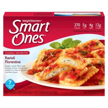 Súly Watchers Smart Ones Ravioli Florentine was a top pick for budget frozen diet meals, according to Cheapism.com