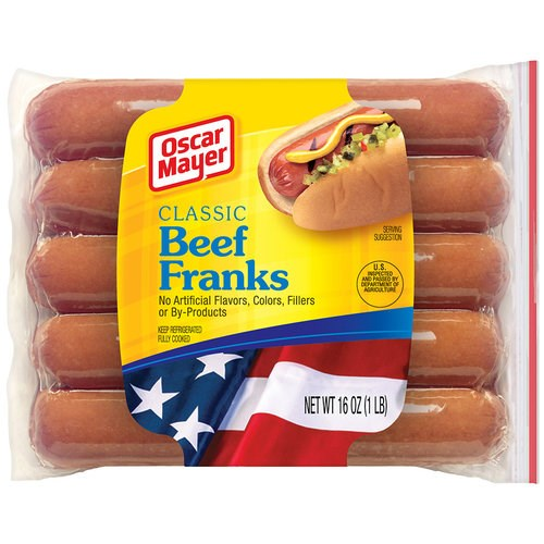 אוסקר Mayer Classic Beef Franks were a top pick of the tasting panel.