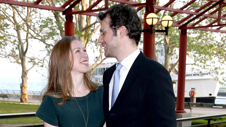 Chelsea Clinton and Marc Mezvinsky attend the 2015 Statue Of Liberty-Ellis Island Foundation's Gala in the Great Hall at Ellis Island National Museum of Immigration