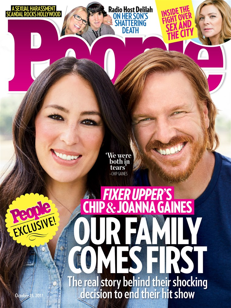 csip and Joanna Gaines on the cover of People.
