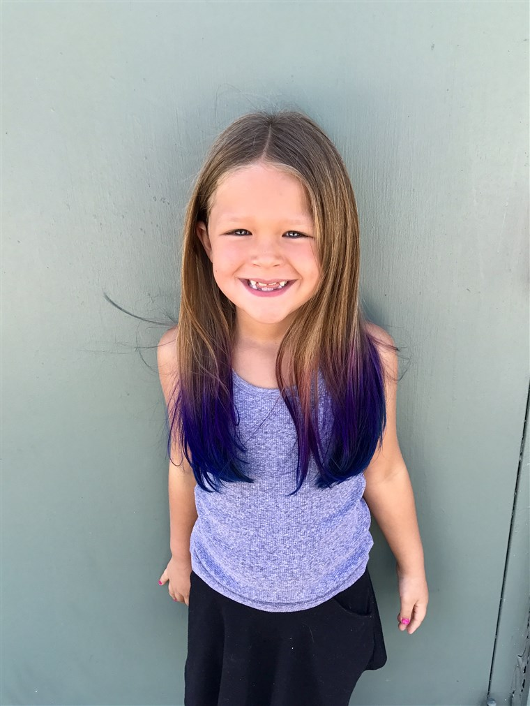 DANAS Contributor Terri Peters allowed her daughter, Kennedy, 6, to have her hair colored at the start of summer vacation.