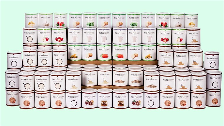 Nutristore 1 Year Emergency Food Kit 6,200 Servings
