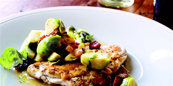 5 perc Chicken Breasts with Bacon & Brussels Sprouts
