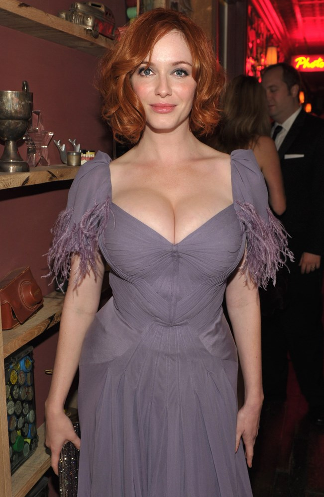 Is busty for most swimwear? Actress Christina Hendricks, shown here at the 62nd Annual EMMY Awards, has trouble ping for her curves.