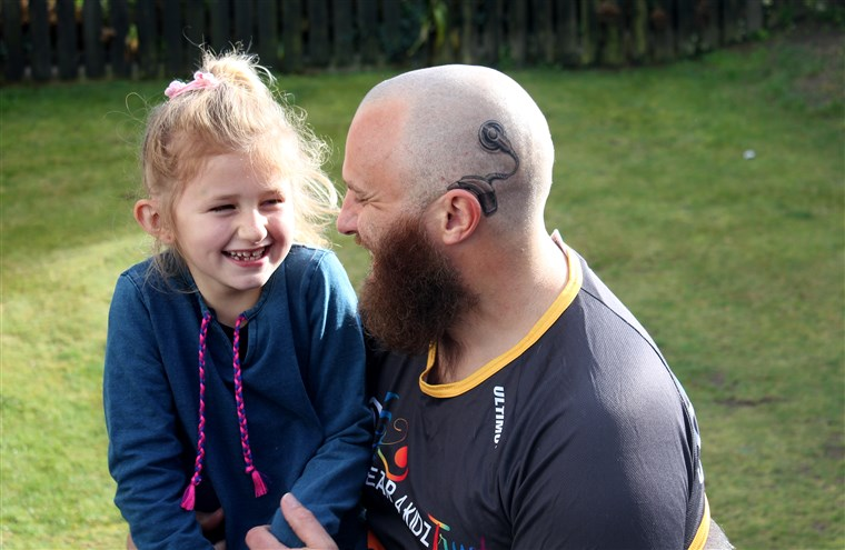Tata's cochlear implant tattoo matches the real one worn by daughter.