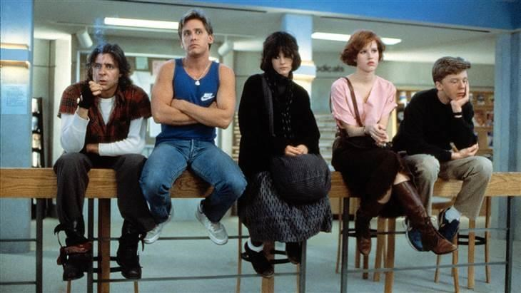 जड Nelson, Emilio Estevez, Ally Sheedy, Molly Ringwald and Anthony Michael Hall faced detention together in 1985's