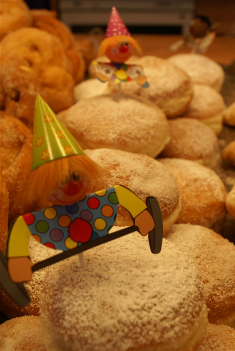 Donuts, traditionally filled with jam, are a favorite during Germany's carnival season.